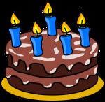 BD cake.5 blue candles
